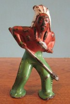 "Vintage Cast Iron METAL INDIAN NATIVE AMERICAN Figure, Figurine 3"" High A - $16.83"