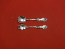 "Les Cinq Fleurs by Reed & Barton Sterling Silver Baby Set 2pc 4 3/4"" Custom - $113.05"
