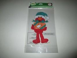 "New 7 1/2"" Sesame Street Elmo Holiday Window Cling Winter Christmas - $1.50"