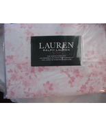 Ralph Lauren Dusty Pink Floral on White Sheet Set Queen - $115.00