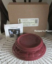 Longaberger Woven Traditions Candle Holder Paprika Pottery 3163640 New I... - $26.00
