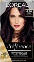 L'Oreal Preference 4.26 TUSCANY Pure Burgundy Cool Violet Plum PURPLE Ha... - $20.80