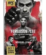 UFC 216 PPV Official Event Poster 28X37 THE UFC STORE FERGUSON VS. LEE - $18.69