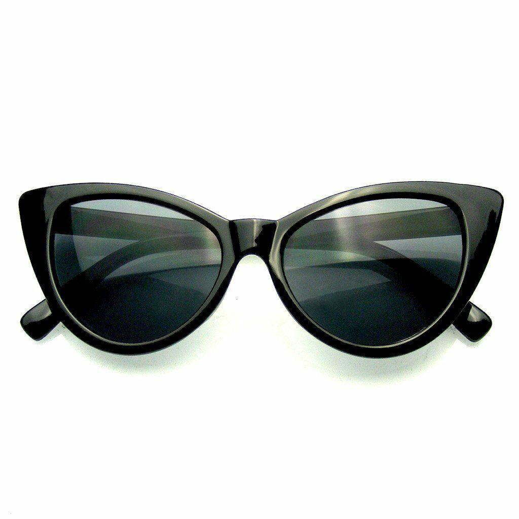 Hot Womens Classic Cat Eye Designer Fashion Shades Black Frame Sunglasses