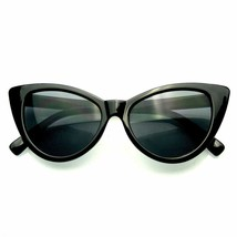 Hot Womens Classic Cat Eye Designer Fashion Shades Black Frame Sunglasses - $7.55