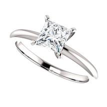 0.50 Carat Princess Cut Diamond Solitaire Ring in 14K Gold - $499.00