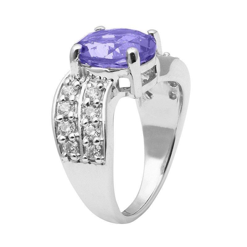 Tanzanite Color Cz Stone 925 Sterling Silver Ring Shine Jewelry Size-9 SHRI1438