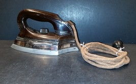 Vintage KM Electric Dry Iron – Very Unusual Sole Plate – settings silk, ... - $19.99