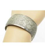 925 Sterling Silver - Vintage Ornate Swirl Detailed Wide Cuff Bracelet  ... - $80.33