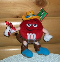 M & M's Candy Red Plush Poseable Western Sheriff in Hat & Boots with Gun... - $5.89