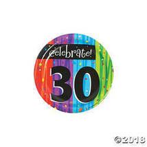 8-Count Round Paper Dessert Plates, Celebrate 30, Milestone Celebrations - $2.61