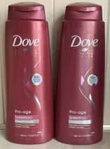 (2) Dove Pro Age Shampoo for Brittle Hair 13.5 Oz  Large Size Proage - $28.95