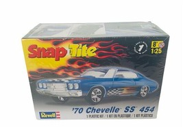 Revell Snap Tite 1970 Chevelle ss 454 Blue 70 nib box car model kit 1:25... - $39.55