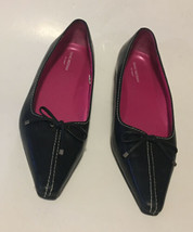 Isaac Mizrahi For Target Black Pointed Toe Flat Women's Shoes Size 8 1/2 M Essie - $44.10