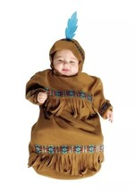 New Wild West Infant Papoose American Indian Bunting Costume Warm Up To ... - $21.50