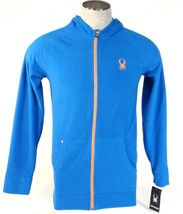 Spyder Fleece Blue Zip Front Hooded Jacket Hoodie Youth Boys Extra Large... - $48.25