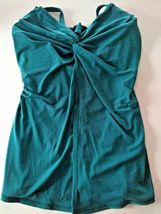 Miracle Suit Nile Blue Love Knot Top Size 8 image 3