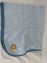 "Little Me Lion Blue Stripe Baby Blanket About 26"" x 30"" - $10.95"