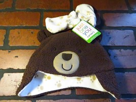 Carter's Just One You Brown Paw BEAR Hat & Mitten Set NEW NWT Size M 6-9... - $2.96