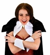 SteamPunk Vampire Unisex White Collar and Cuffs Victorian Goth Cosplay, NEW - $14.50