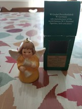 1986 Goebel Annual Angel Bell Christmas Tree Ornament - Yellow Gown - MIB - $11.30