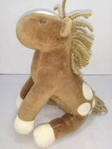 Gymboree Tan Brown Cream Plush Horse Pony w/ Yarn Mane 2006 - $15.74