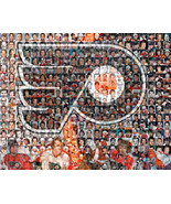 Philadelphia Flyers Mosaic Print Art Created Using the Greatest Flyer Pl... - $40.00+