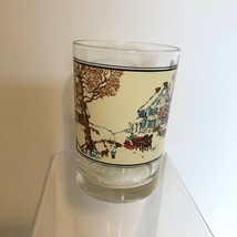 Set of 2 Currier & Ives Arby's Collector Series Tumbler Glasses1981 Wint... - $11.88