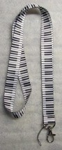 PIANO KEYS Music LANYARD KEY CHAIN Ring Keychain ID Holder NEW - $9.99