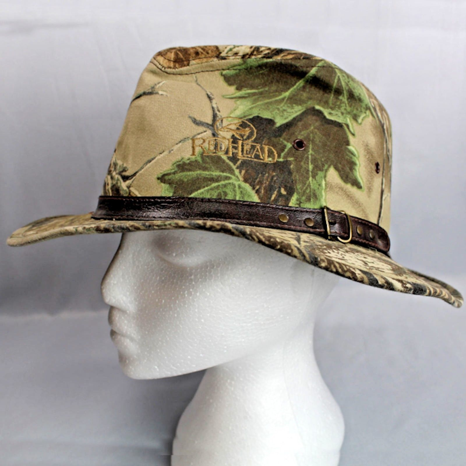d7e96e5df7dd9e RedHead Realtree Safari Camouflage Large Fitted Hat USA Brown Leather Hat  Band - $27.99