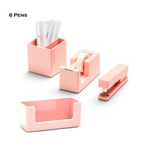 Poppin 10 Piece Set Fresh Start Desk Collection (Blush) - €28,53 EUR