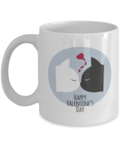 Kitty Valentine, Cats Love Hearts - 11 oz Classic Coffee Mug  - £12.35 GBP