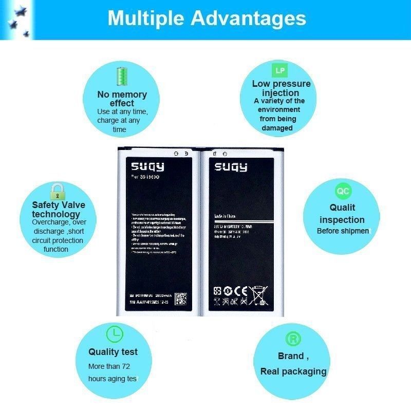 S5 Battery for Samsung 2820 mAh Galaxy s5 i9600 Phone New Accumulator SM G900F image 9