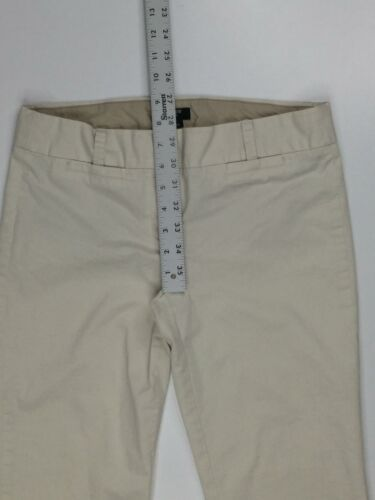 """J. Crew Women's Dress Pants Size W30"""" x L25"""" Curvy Fit Cropped Stretch White"""