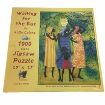 """SunsOut 1000 Piece Puzzle Waiting for the Bus Julia Cairns 20"""" x 27"""" Women Child - $18.69"""