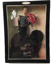 40th Anniversary Barbie Doll Mattel 1999 Collector Edition Box Has Sligh... - $56.06