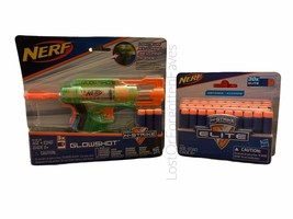 Nerf Gun Glowshot N Strike Blaster Lights Up 30 Darts Distance Elite Age New - $19.79