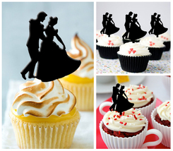 Ca50 Decorations cupcake toppers cinderella dance silhouette Package : 10 pcs - $10.00