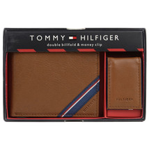 Tommy Hilfiger Men's Double Bi Fold Wallet & Money Clip Gift Box Set 41TL24X025