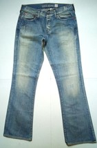 GUESS JEANS Falcon Low Rise Boot Womens 32 Hip Studs Distressed Vtg Jean... - $27.88