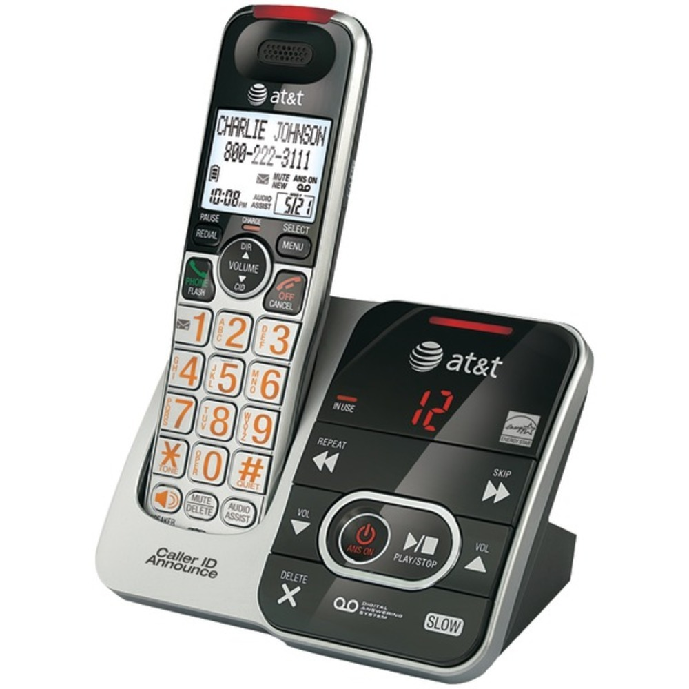 AT&T ATCRL32102 DECT 6.0 Big-Button Cordless Phone System with Digital Answering