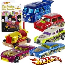 NEW SET 6 BEATLES LIMITED EDITION YELLOW SUBMARINE HOT WHEELS - $24.99