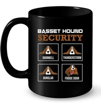 Basset Hound Ceramic Mug  Funny Dog Ceramic Mugs for Men  Women - $13.99+
