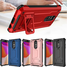 Shockproof Hybrid Stand Case Cover For For LG Phoenix 3 / K4 2017 / LG R... - $11.40