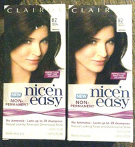 Nice 'n Easy Non-Permanent Hair Color 82 Dark Warm Brown ( 2 pack ) 28 shampoos - $11.39