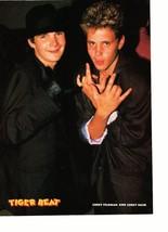 Corey Haim Corey Feldman teen magazine pinup clipping I love you hand sign