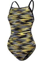 ADIDAS VORTEX BACK SWIM ONE PIECE GIRLS SZ 26 SWIMSUIT BLACK YELLOW NEW ... - $32.71