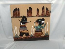 Art Sand Painting Walking Thunder Navajo Boy & Girl Tradion Beauty Woman... - $123.75