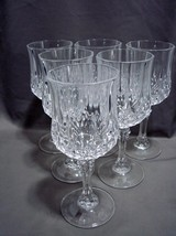 6 Cristal d'Arques Durand Longchamp Crystal Wine Glasses 6 1/2 Inches - $24.00