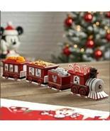 Disney Mickey & Friends Holiday Train Bowl Set Ceramic Appetizer Christm... - $89.09